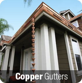 Copper gutters are very visually pleasing.