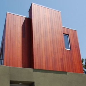 Redwood siding gives modern architecture smooth lines with natural accents.