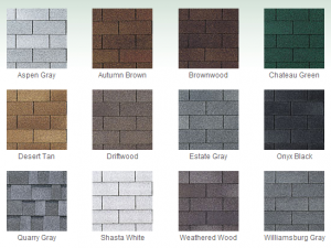 Shingles have a wide color option.