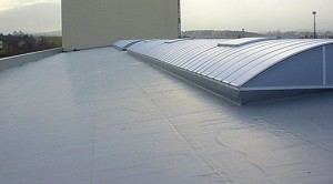 Flat roofs look very good on commercial properties.