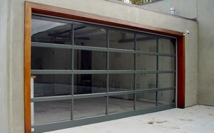 A glass overhead door can give your garage a great modern look.