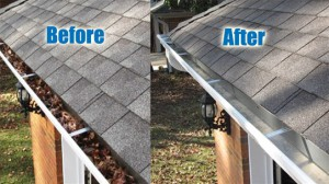 Gutters need to be cleaned every year to make sure water drains properly.