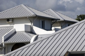 Metal roofs give houses a very distinct look from a variety of colors.