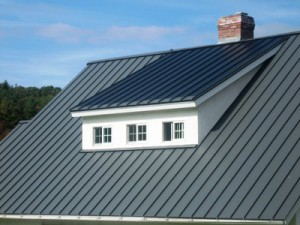 Metal roofs look great on residential properties.