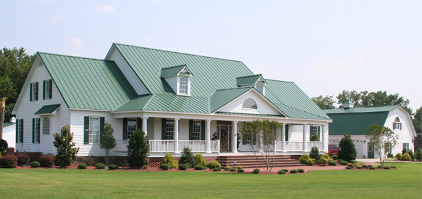 Metal roofs can be painted any color.