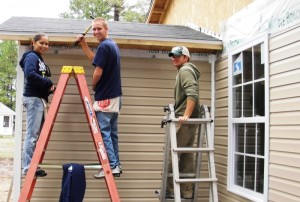 Siding is this fun to install.