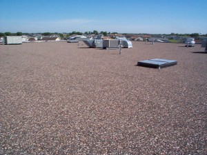 Tar and gravel roofs are a popular choice for commercial buildings.