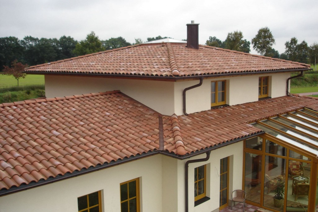 Tile roofs give homes a nice Mediterranean look.